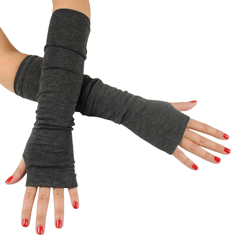 Immerschön fingerlose Armstulpen Feinstrick lang Pulswärmer Handwärmer Stulpen
