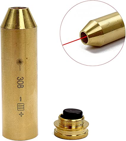 7mm REM MAG Cartridge Bore Sighter Brass Red Laser Sight Hunting Accuracy Tool