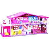 Toyzone My Deluxe Doll House, Red (50 Pieces)