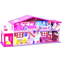 Toyzone My Deluxe Doll House & Play Set for Girls  (Red, 50 Pieces)