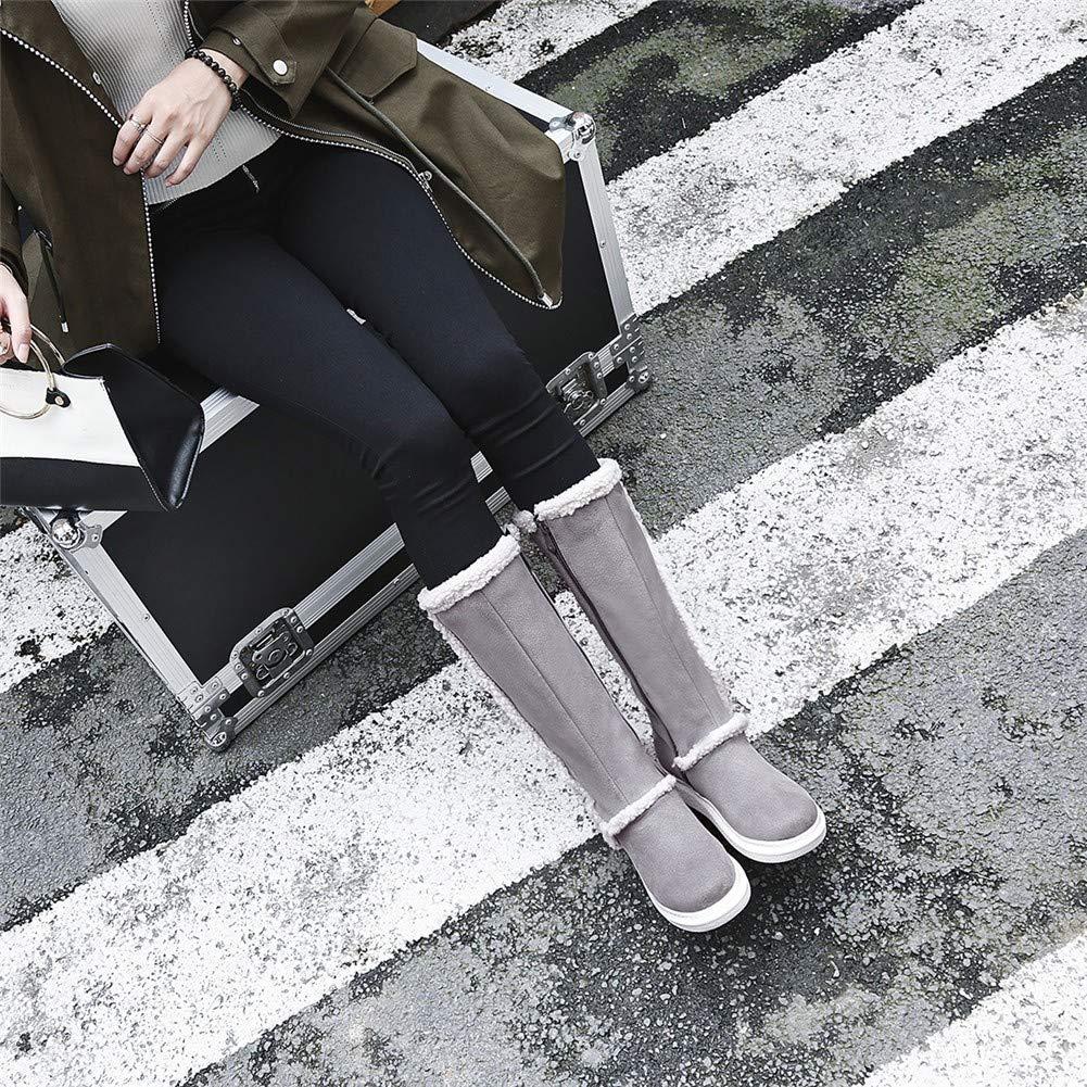 MHCDXGN Damen-Hohe Stiefel Herbst Und Winter Dicke Dicke Dicke Wildleder Mode Lässig Student Schnee Stiefel bdc6b2