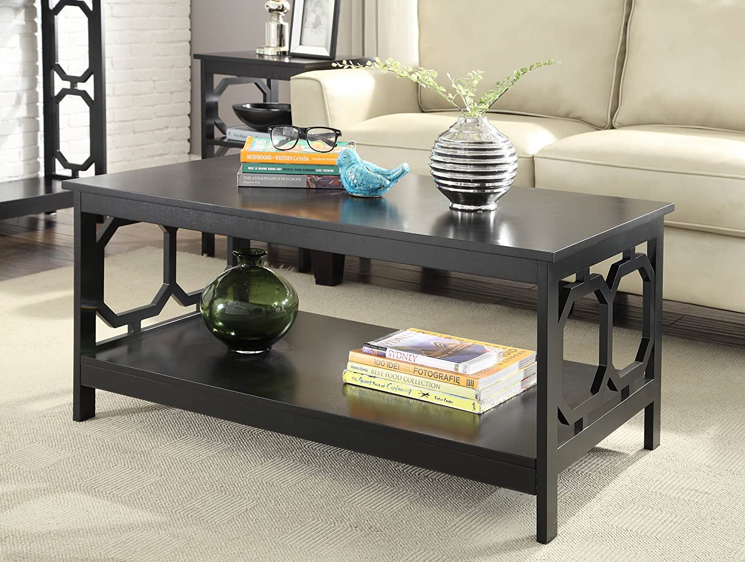 Merveilleux Amazon.com: Convenience Concepts Omega Coffee Table, Black: Kitchen U0026 Dining