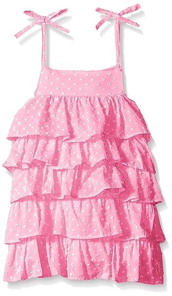 ce9b972daf02 Amazon.com: U.S. Polo Assn. Girls' Dotted Swiss Tiered Sundress ...
