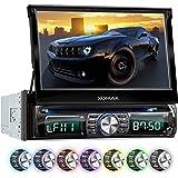 """XOMAX XM-DTSB931 Autoradio / Moniceiver + Bluetooth Freisprecheinrichtung & Musikwiedergabe + 18cm / 7"""" HD Touchscreen Display + Audio & Video: MP3 inkl ID3 TAG, WMA, MPEG4, AVI, etc. + 7 LED Beleuchtungsfarben einstellbar + Codefree DVD / CD Player +USB Anschluss bis 128GB + SD Kartenslot bis 128GB + RDS Radio Tuner + Anschluss für Rückfahrkamera, Lenkradfernbedienung, Subwoofer + Single DIN (1 DIN) Standard Einbaugröße + inkl. Einbaurahmen"""