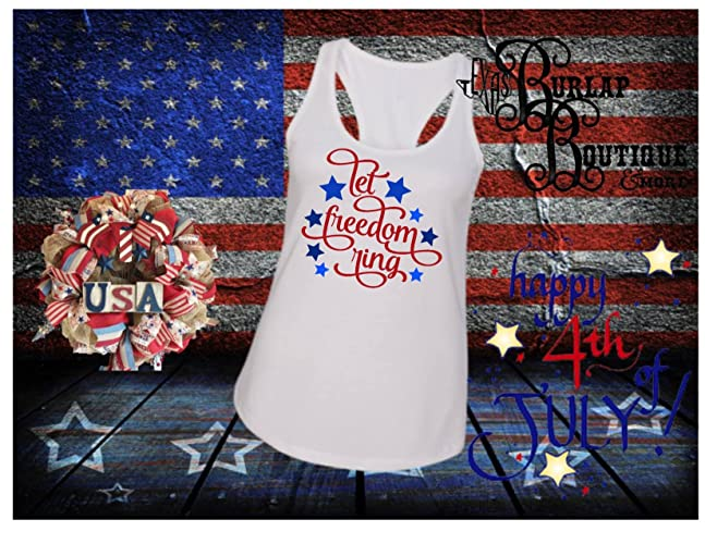 6eba2ca70f3591 Amazon.com  Handmade July 4th Independence Day Let Freedom Ring ...