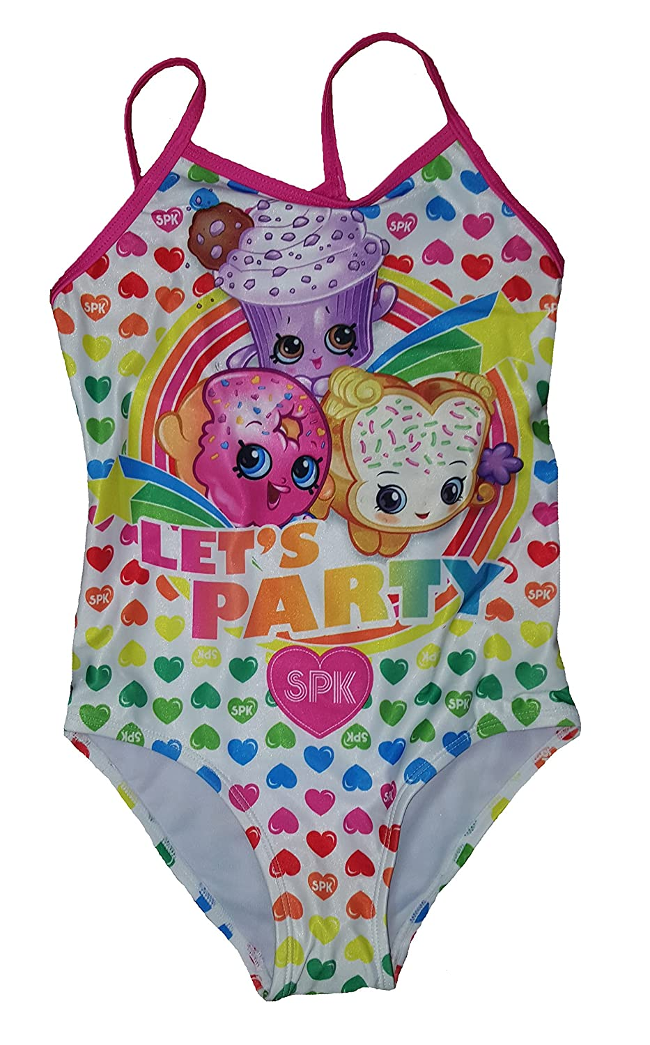 fff018f0f5fbd Amazon.com: Shopkins Girls Swim Suit Bathing Suit Lets Party One Piece:  Clothing