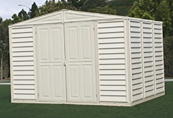 duramax model 00211 10x8 woodbridge vinyl storage shed