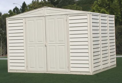 Duramax Model 00211 10x8 WoodBridge Vinyl Storage Shed & Amazon.com : Duramax Model 00211 10x8 WoodBridge Vinyl Storage Shed ...