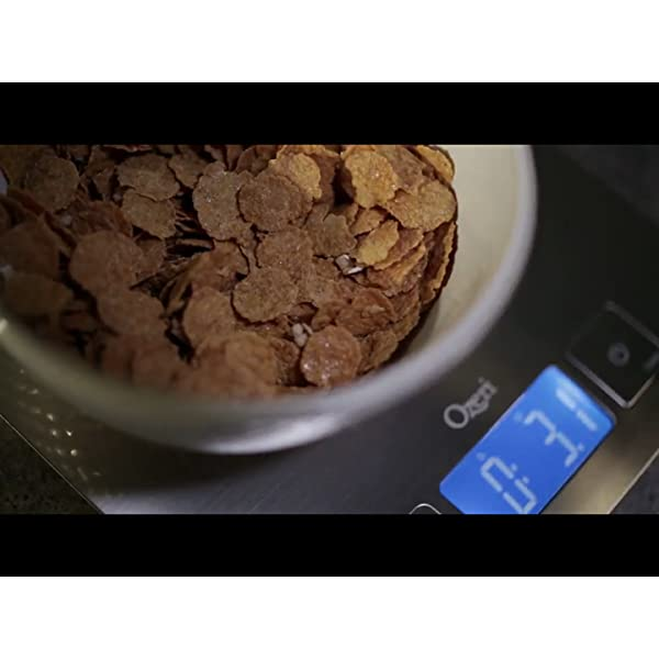 Zenith Digital Kitchen Scale by Ozeri, in Refined Stainless Steel with Fingerprint Resistant Coating 812CrKvaAcS