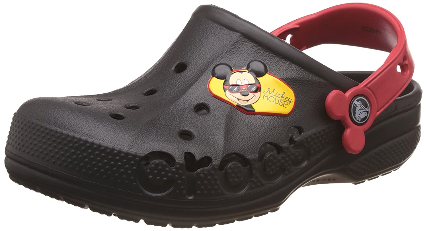 2b969a769 crocs Kids Unisex Baya Mickey Black Clogs and Mules  Buy Online at Low  Prices in India - Amazon.in