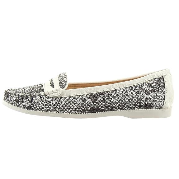 Sopily - Zapatillas de Moda Mocasines Tobillo mujer Piel de serpiente Talón Tacón ancho 1.5 CM - Negro CAT-WH702 T 41: Amazon.es: Zapatos y complementos