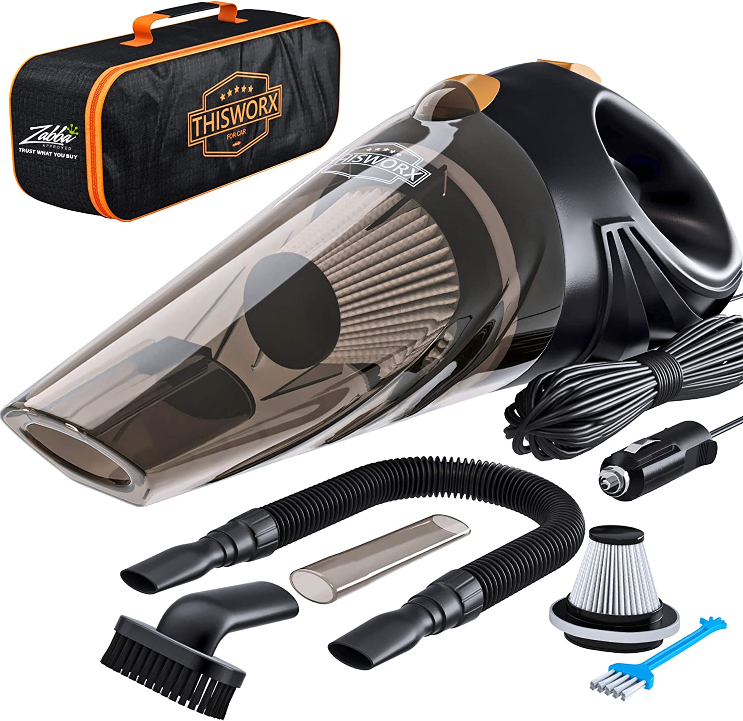 Amazon.com: Portable Car Vacuum Cleaner: High Power Corded Handheld Vacuum  w/ 16 foot cable - 12V - Best Car & Auto Accessories Kit for Detailing and  Cleaning Car Interior: Automotive