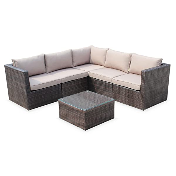 Alice S Garden Outdoor Lounge Set 5 Seater Siena Modern And