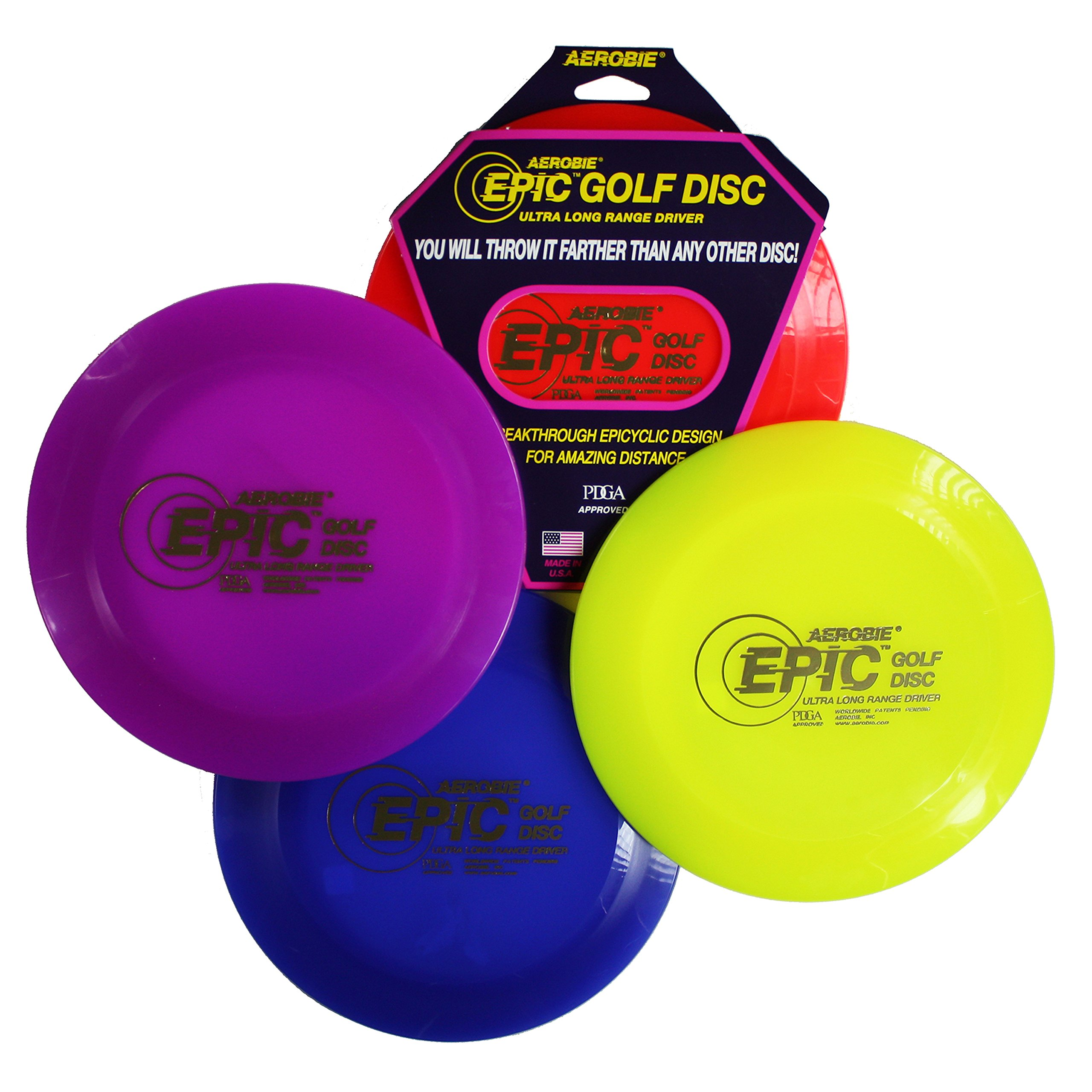Aerobie Epic Golf Disc, Colors May Vary by Aerobie