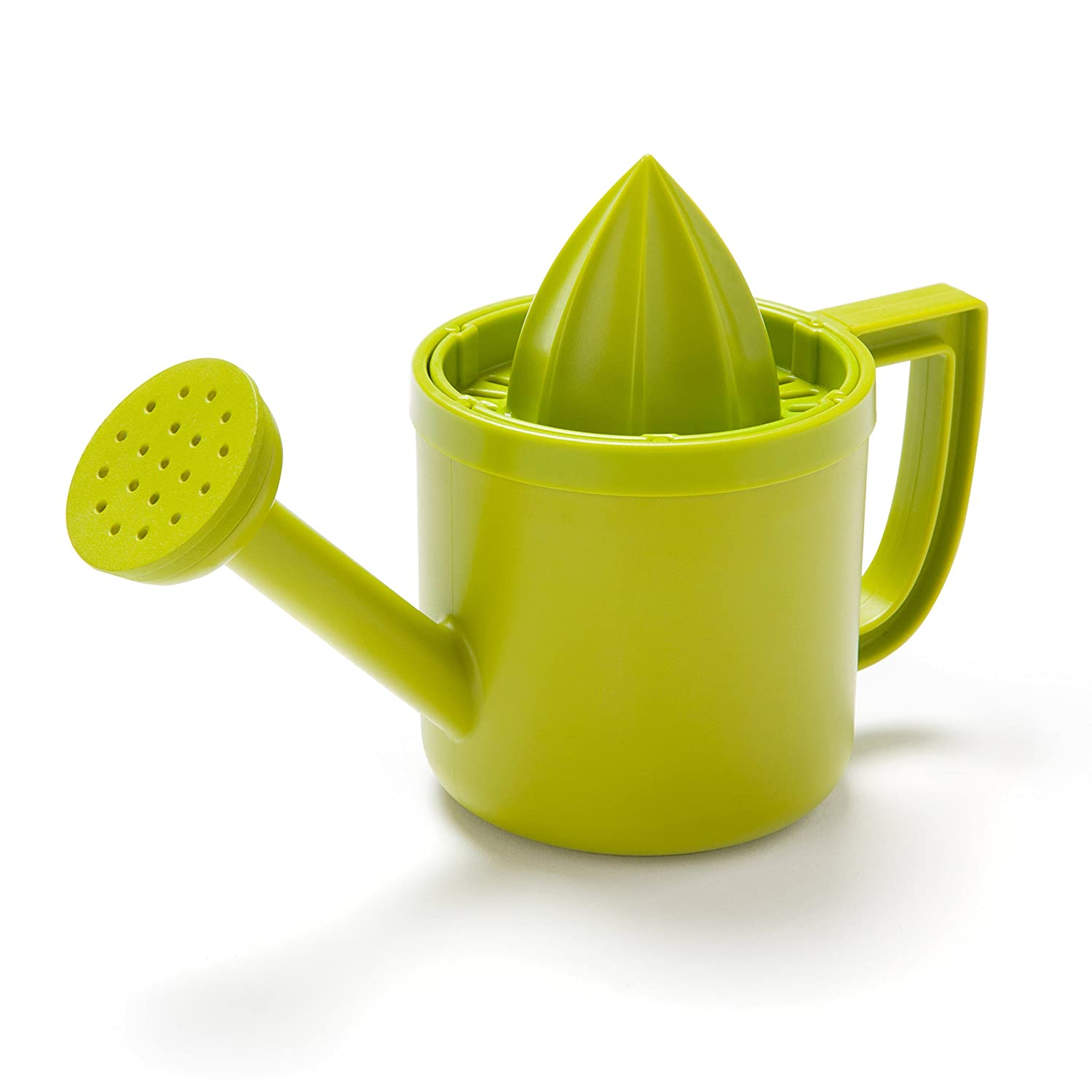 LEMONIERE by PELEG DESIGN: Original Watering Can-Shaped Juicer, Green Plastic Squeezer with Pourer for Lemon or Citrus Juice with Flip Lid for Storage