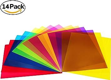 Lot de 20/20,3/x 27,9/cm 10/couleur teint/é Couleur Feuille de film plastique transparent Gel filtre d/éclairage
