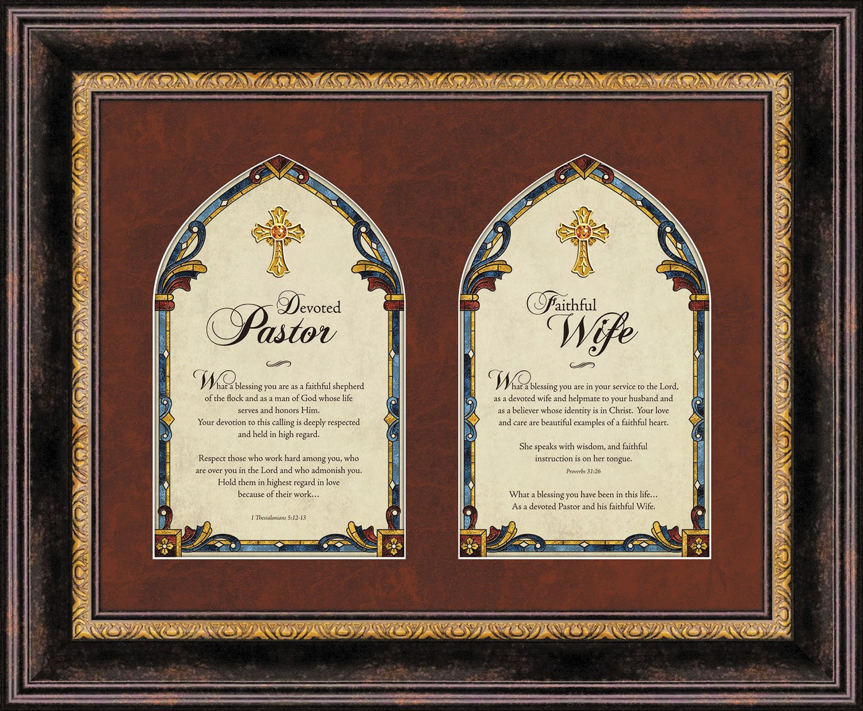 Faithworks Pastor & Pastor's Wife Framed Wall/Tabletop Art, 17 x 14-Inches, Pastor's by Faithworks
