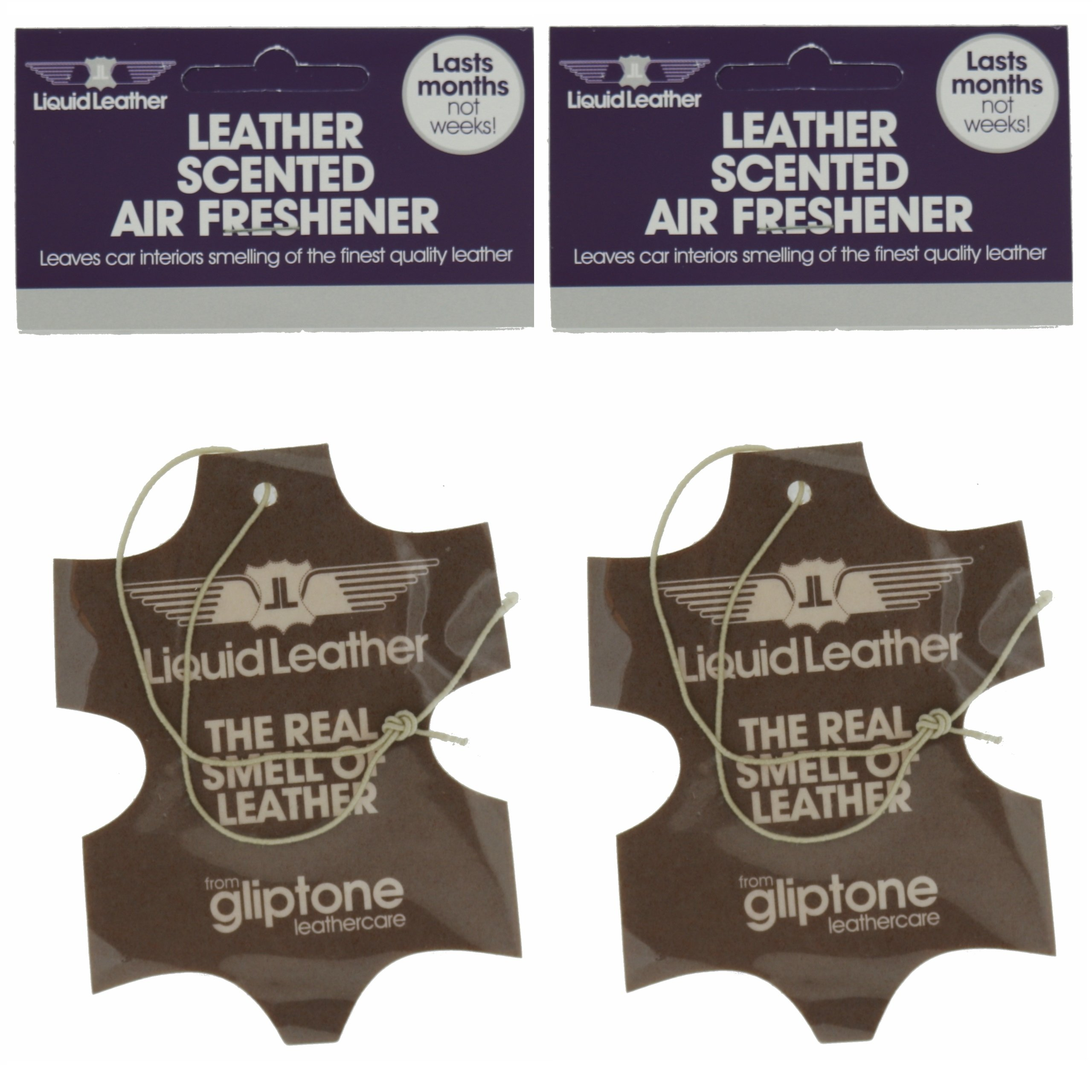 Gliptone Liquid Leather Scented Air Freshener - Pack of Two - SC746