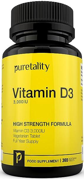 53056adf7b5 Vitamin D3 3000IU 365 Tablets (12 Month Supply) – High Strength Vitamin D  Cholecalciferol