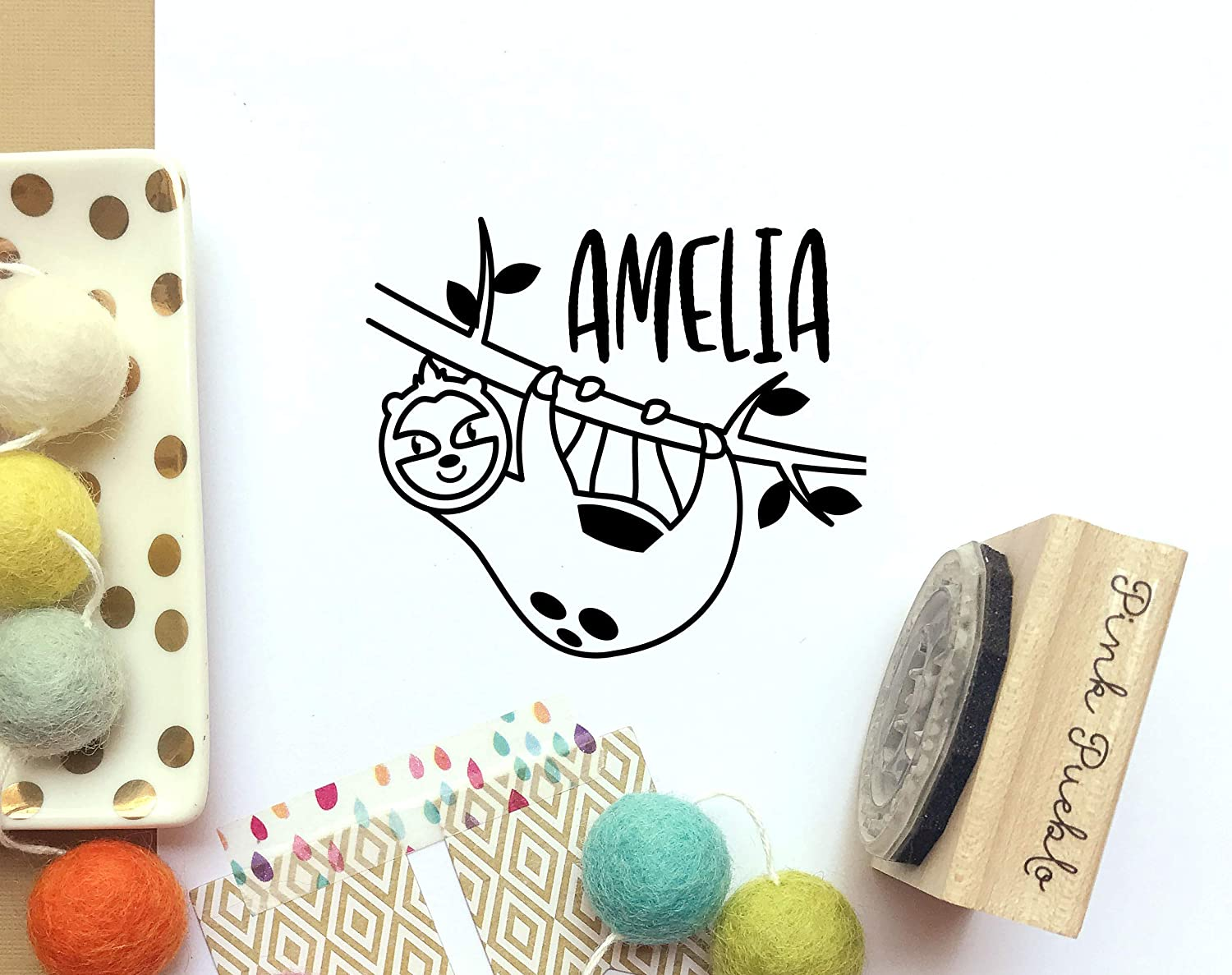 Amelia Name Rubber Stamp for Kids