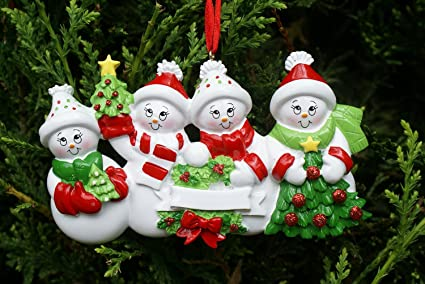 Snowman Family of 4 - Christmas Ornament by Rudolph & Me - Amazon.com: Snowman Family Of 4 - Christmas Ornament By Rudolph & Me