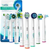 Health+ Compatible Oral-B Replacement Brush Head Generic - Variety 10-Pack | Electric Toothbrush Heads With Dupont Bristles | Sensitive, Floss, Ortho, Powertip, Whitening, and Normal Brush Heads