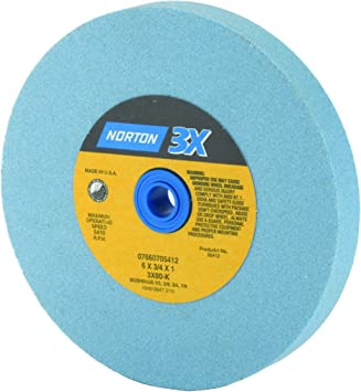 Norton 07660788205 Surface Grinding Wheels Size 5 x 3//4 x 1 Price is for 1 EA