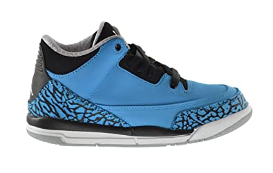 promo code bb738 a9f0f Jordan Air 3 Retro Powder Blue BP Little Kids Basketball Shoes Dark Powder  Blue White