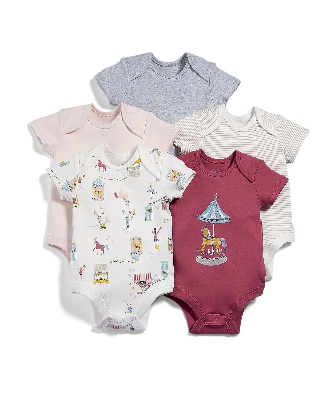 Mamas & Papas Baby-Mädchen Formender Body, 5er Pack