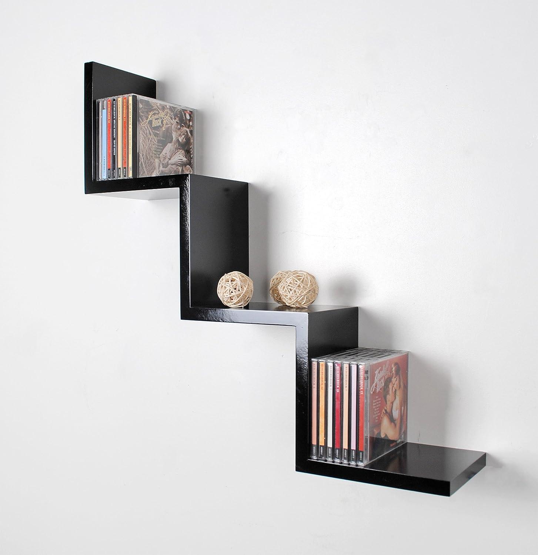 Hängeregal design  Lounge Regal ZickZack Design Retro CD DVD Wandregal Hängeregal ...