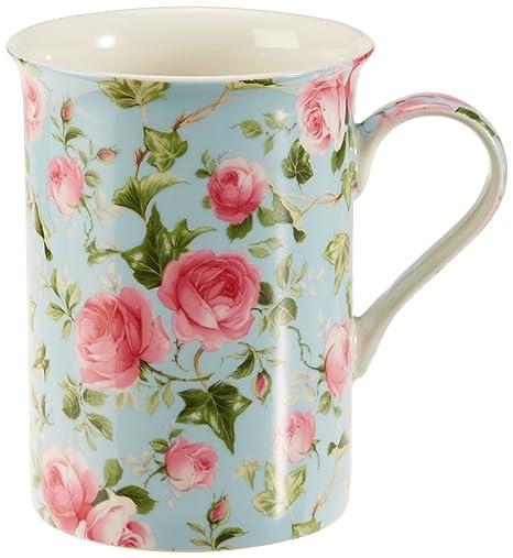 Maxwell & Williams S568471 Royal Old England - Tazza decorata a rose  d\'autunno, in confezione regalo