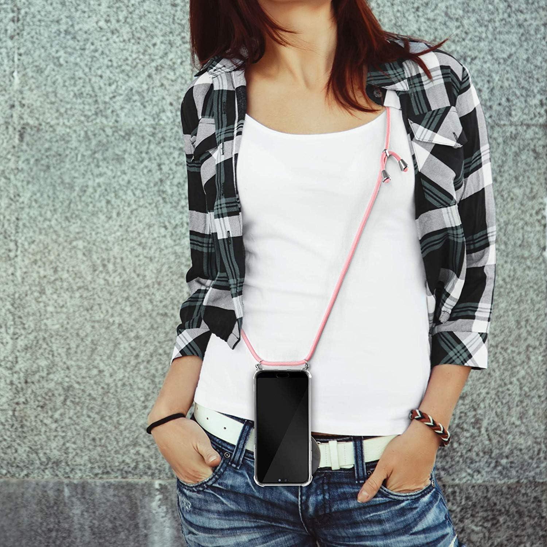 Felfy Handykette Kompatibel mit Galaxy A6 Plus H/ülle Band Umh/ängeband Trageschlaufe Handseil Lanyard H/üllen,Kompatibel mit Galaxy A6 Plus Handyh/ülle Transparent Silikon Sto/ßfest Slim Cover Case,Farbe