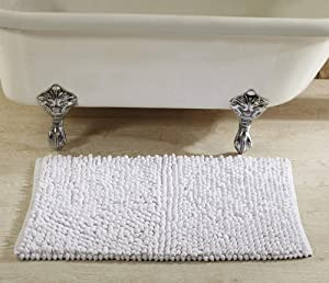 Better Trends Chenille Rocks Collection is Ultra Soft, Plush and Absorbent Tufted Bath Mat Rug 100 Percent Cotton in Vibrant Colors, 24