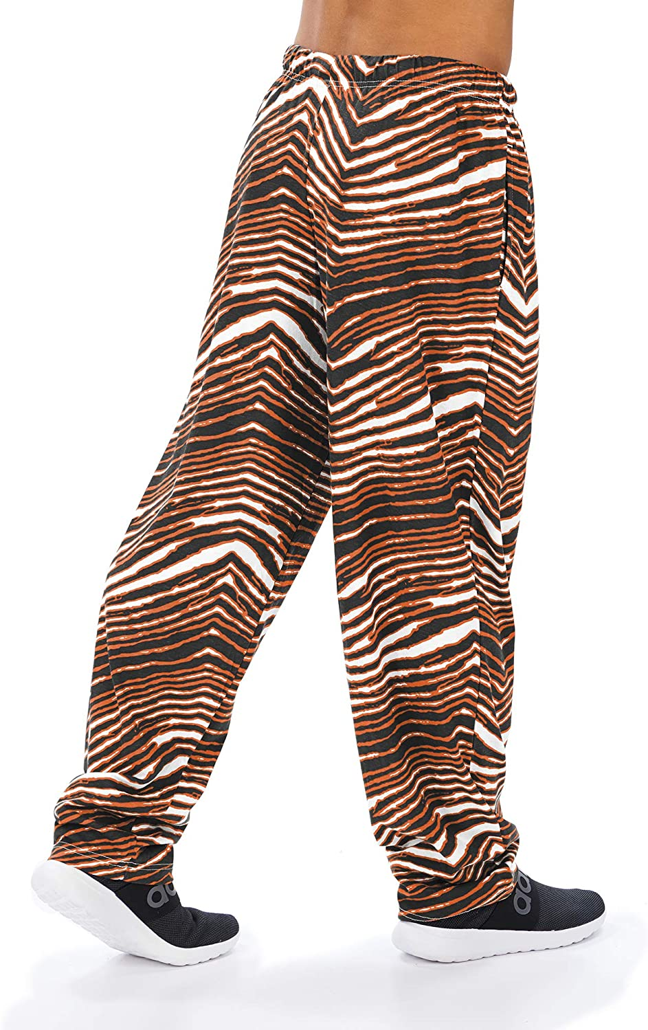 Sizes Small to XX-Large Zubaz Officially Licensed NCAA Mens Zebra Pants Multi Color