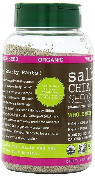 Salba Smart orgánico, semillas de chia, de todo, 16-Ounce ...