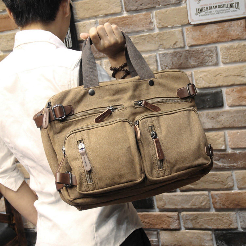 Tidog Korean Metrosexual bag briefcase Multi Pocket handbag Crossbody Bag