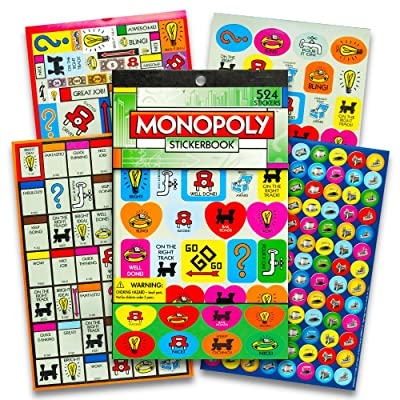 Eureka Monopoly Stickerbook, 524 Stickers: Office Products