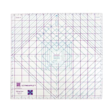"""Pineapple 12.5/"""" Acrylic Quilting Template"""