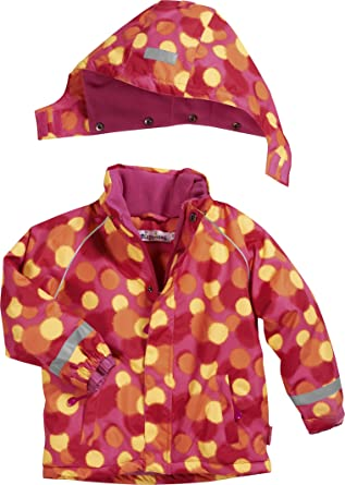 dc747a0b8 Playshoes Girl's Waterproof and Breathable Snow, Ski Jacket and  Snowboarding Allover Dots, Pink (