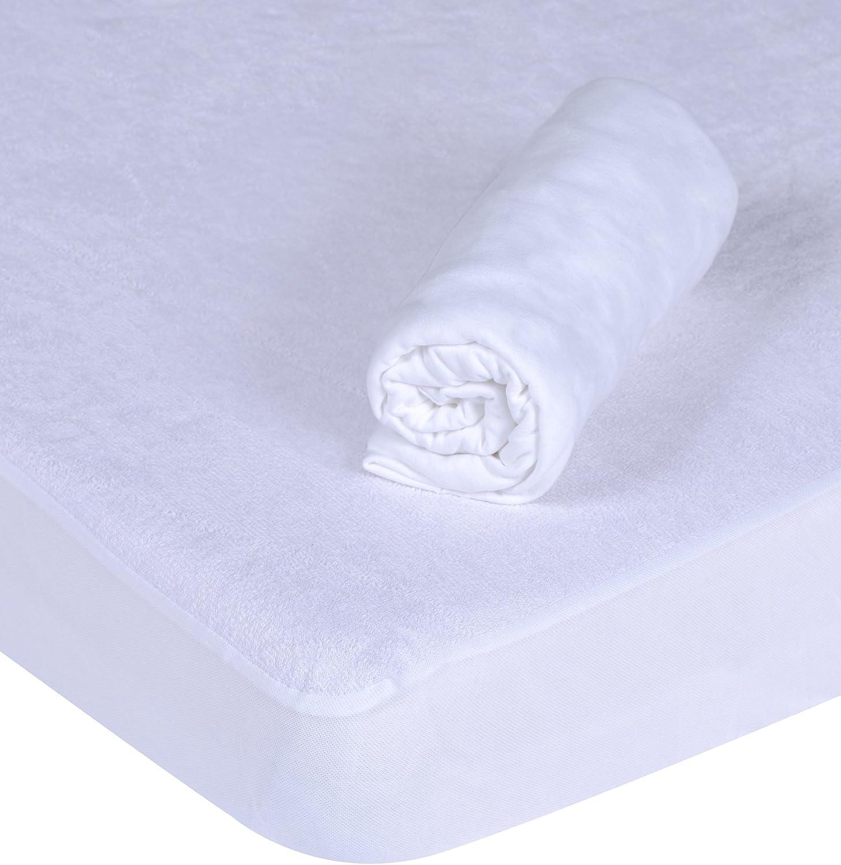 PMP Lot Drap Housse Al/èse Blanc 70X140 cm