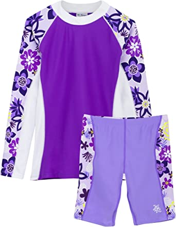 Sun Protection Swim Suit UPF 50 Tuga Girls Three-Piece Bathing Suit 2-14 Years