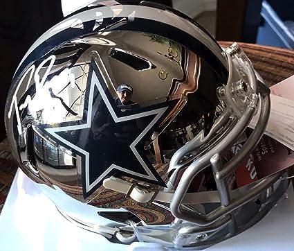 af2b3ef9651 Tony Romo Autographed Signed Dallas Cowboys Chrome Mini Helmet - JSA  Authentic Memorabilia