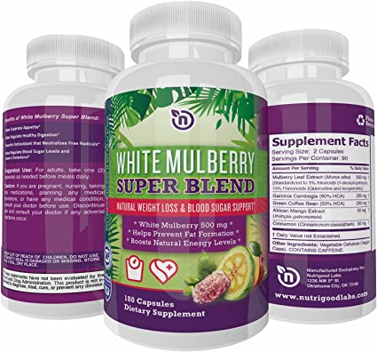 Amazon Com White Mulberry Garcinia Cambogia Extract With Green