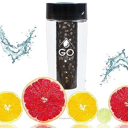 Amazon.com: Botella de agua con infusor de frutas GO Water ...