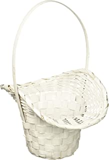 Amazon wald imports white bamboo decorative storage basket set wald imports white bamboo 475 basketplanter mightylinksfo