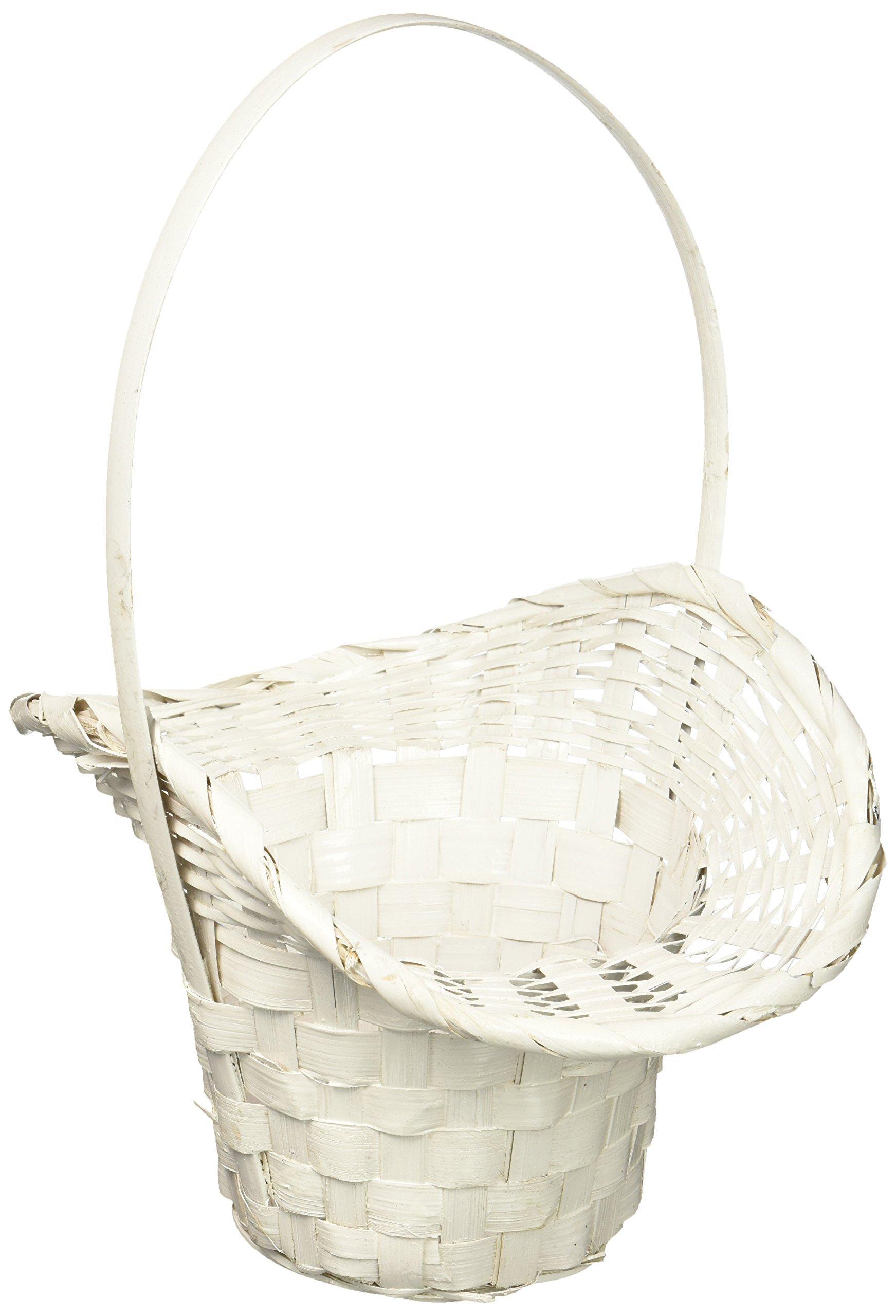 Wald Imports White  Bamboo 4.75'' Basket/Planter