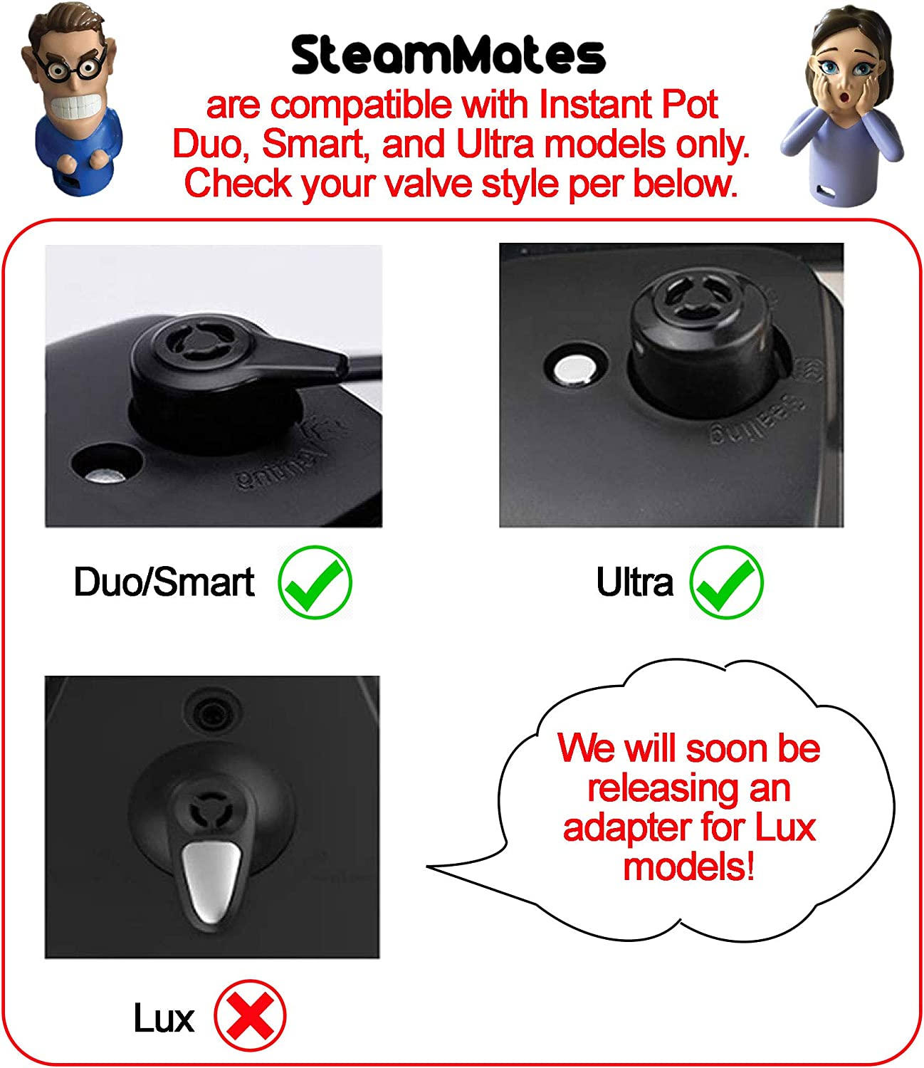 Nelson Compatible with Instant Pot Accessories Steam Release Diverter