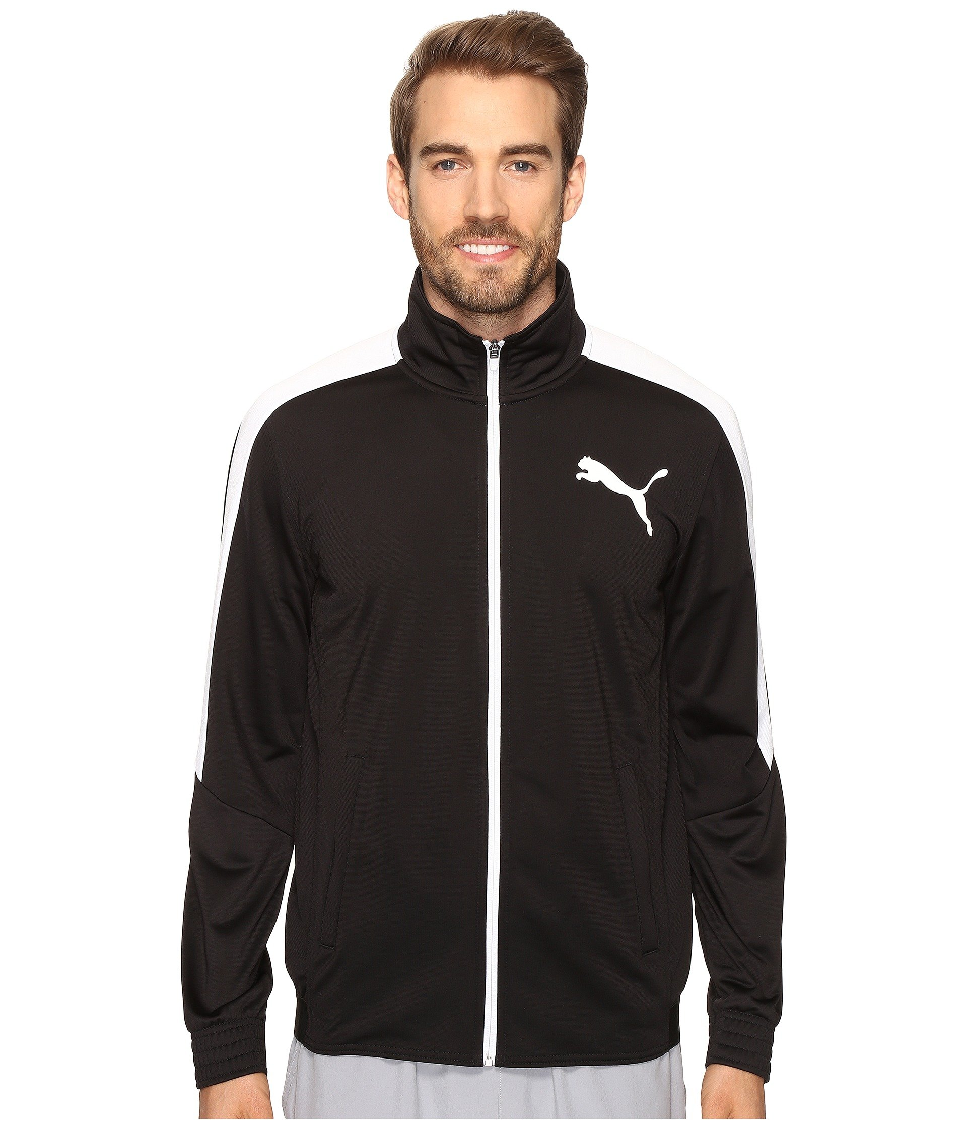 PUMA Men's Contrast Jacket, Black White, X-Large by PUMA