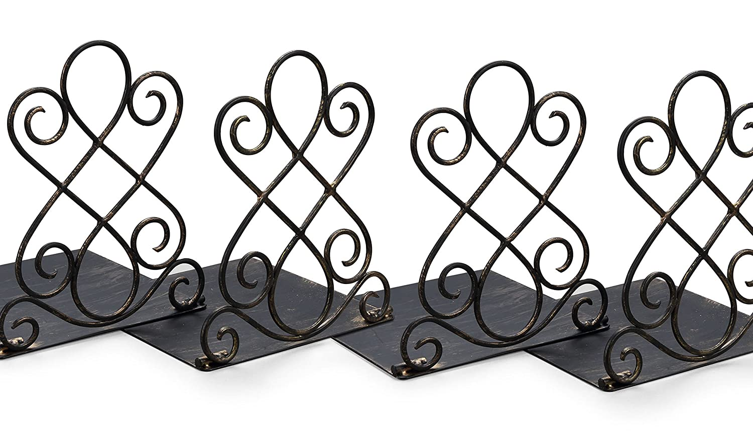 Pack of 2 NEUN WELTEN NW043 Art Bookends in Vintage Bronze Finish