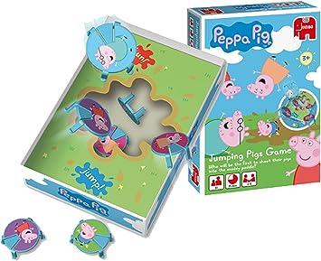 Disney Jumping Pigs - Juego de Mesa de Peppa Pig y Sus Amigos saltadores: Amazon.es: Juguetes y juegos